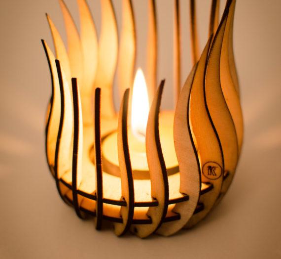 Kerzenhalter Flamme